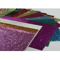 Wholesale Eco Friendly Craft A4 Size Pu Glitter Fabric Sheet Metallic Glitter Fabric from china suppliers