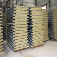 Wholesale prefabricated fireproof rockwool sandwich panel house for labor camp from china suppliers