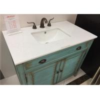 Wholesale Eased Edges Marble Vanity Tops Crystal White With Rectangle Sink from china suppliers