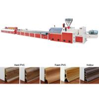 Wholesale Floor Baseboard PVC Profile Extrusion Line Skirting Board Manufacturing from china suppliers