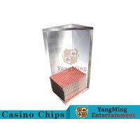 China 250g Triangle 6 Deck Card Holder High Capacity With Special Acrylic Material on sale