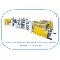 corrugated carton box production line inline 4 color printing die cutting gluer strapping machine