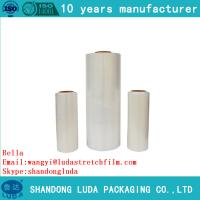 Wholesale HOT SALE! LLDPE handle stretch film  certified good quality PE plastic cling film from china suppliers