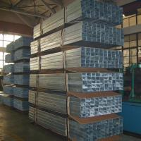China High Strength Rectangular Structural Steel Tubing , Custom Galvanized Square Pipe on sale