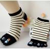 Buy cheap Spring Purple Five Toe Socks , Anti - Pilling Striped Toe Socks from wholesalers