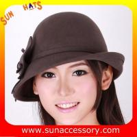 China 0352 wool felt  coffee ladies hats for women,Shopping online hats and caps on sale