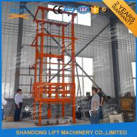 Wholesale 1T 12m CE Approved Vertical Guide Rail Elevators Hydraulic Warehouse Cargo Lift from china suppliers