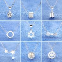 Wholesale Perfect in workmanship silver zircon various pendants necklace from china suppliers