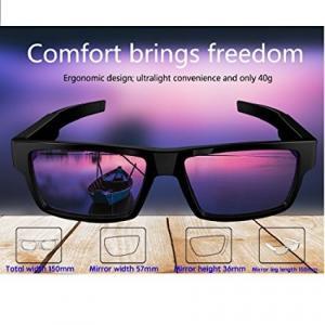 HD Spy Video Camera Glasses , Polarized Spy Sunglasses Camera Audio Video Recorder