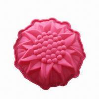 China Silicone Cake Pans, Flower Round-shaped Pan, Measures 23.5 x 6cm on sale