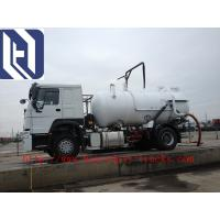 6x4 12m3 SINOTRUK HOWO 336hp Sewage Pump Truck With Safety Belts Tires12.00R20 With Middle lifting and Rear Cover