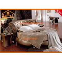 Wholesale Luxury golden leather French round bed furniture bedroom sets from china suppliers