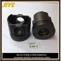 Wholesale excavator engine piston, komatsu engine part, S6D125 piston fit to pc400-6 from china suppliers