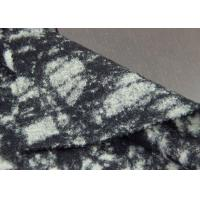 Black And White Leopard Pattern Sheep Shearling Printed Wool Fabric For Coats