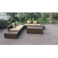 Wholesale Plastic Rattan Furniture Soft Set With 100x100x70cm Middle Sofa from china suppliers