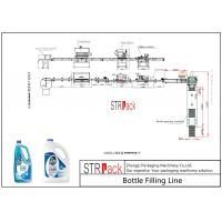China Foaming Liquid Filling And Sealing Machine Line For Floor / Glass Cleaner on sale