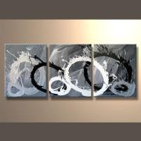 China Wholesale Handmade Decorative 3 Panel Canvas Painting on sale