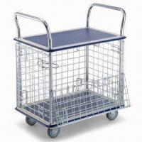 Wholesale Two-shelf Trolley with Wire Mesh Side and Chrome-plated Handles from china suppliers