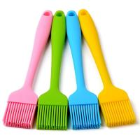 Solid Core And Hygienic Silicone Pastry Brush , Silicone Basting Brush For BBQ