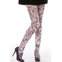 Wholesale Breathable Floral Print Tights , Custom Printed Tights For Women from china suppliers