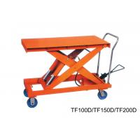 Wholesale Flexible Double Scissor Hand Lift Table Steering Mechanical , Casters With Brakes from china suppliers