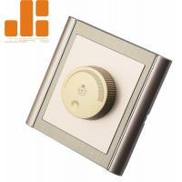 Wholesale 0 - 100% Triac Dimming LED Dimmer Switch With Golden Appearance 86*86 Knob Switch from china suppliers