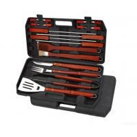 Quality Barbecue Tools With Plastic Case And Wood Handle, Mirror Polish for sale