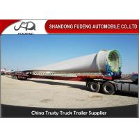 Wholesale 60 Ton Load Extendable Lowboy Semi Trailer , Wind Blade Transport Low Loader Trailer from china suppliers