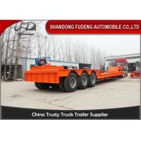 Wholesale Detachable Gooseneck Lowboy Semi Trailer , Three Axle Low Bed Truck Trailer from china suppliers