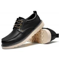 Quality Handmade Mark Thread Mens Formal Leather Shoes , Tan Color Casual Winter Shoes for sale