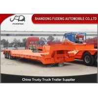 Wholesale Front Load Removable  Gooseneck Low Flatbed Trailer 100 Tons 3 Axles from china suppliers