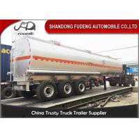 Wholesale 43 Cubic 3 Axles Fuel Tanker Semi Trailer Mechanical / Air / Bogie Suspension from china suppliers