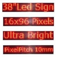 Wholesale P10 LED Display Sign, 1-8 Line 192x64 RED from china suppliers