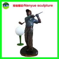 Wholesale life size sport series  golf man statues  bronze color for sale from china suppliers