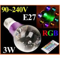 Wholesale E27 1*3W LED Light Crystal LED Bulb AC85~265V Artificial crystal from china suppliers