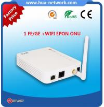 FTTH ONU/Fiber ONU 1GE+WIFI EPON/GEPON ONU with ZTE/Cortina/MTK chipset