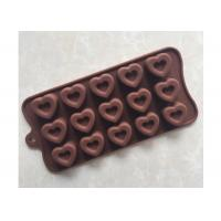 Buy cheap Home Made Silicone Chocolate Molds LFGB Standard With Heart Shape from wholesalers