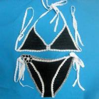China Crochet Bikini Suit, Made of Cotton Yarn, Customized Designs are Accepted on sale