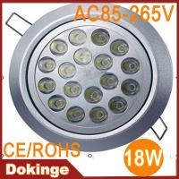 Wholesale high brightness 18W 1800lm 220v 110v epistar chip led round ceiling light 2 years warranty from china suppliers