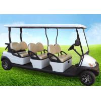 Wholesale White Four Wheels 6 Person Golf Cart , Road Legal Golf Buggy With Long Roof from china suppliers
