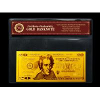 Wholesale Gold art USA $20 gold dollar bill plated in gold 999.9 banknotes from china suppliers
