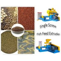 Wholesale Blue/yellow Fish Feed Extruder FY-DSP80 with 400kg/h production from china suppliers