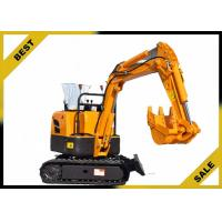 800kg Crawler Hydraulic Excavator 340mm Bucket Width , Road Digging Machine For Farm Use