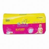Quality Disposable Baby Diaper, Made of Imported Fluff Pulp, Nonwoven Fabric and PE Film for sale