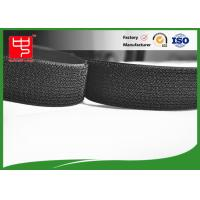 Buy cheap Black reusable single Sided Velcro , A grade  hook and loop strap Silk printing from Wholesalers