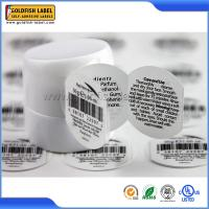 China Circle Booklet Unique Coding Label on sale