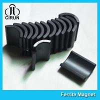 Wholesale Y30 Grade Ferite Arc Magnets For Motors , Ferite Ceramic Motor Arc Magnets from china suppliers