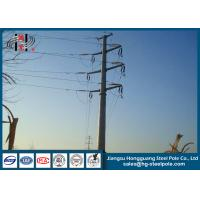 Buy cheap 110KV Steel Tubular Pole , Double Circuit Transmission Line Electric Poles from Wholesalers