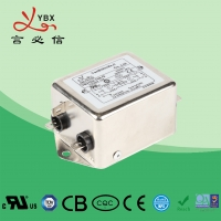 Wholesale RFI Electric Passive Power Emi Filter 110 / 250VAC YB35D4 10A For Inverter from china suppliers