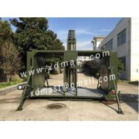 mobile telecommunication base station and reversible telescoping mast tower